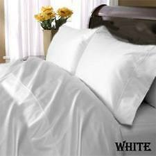WHITE SOLID BEDDING COLLECTION MAKE YOUR CHOICE 1000 TC FREE P&P EGYPTIAN COTTON