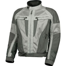 **Fast Shipping** Olympia Airglide 4 Mesh Tech Motorcycle Jacket (Silver/Pewter)