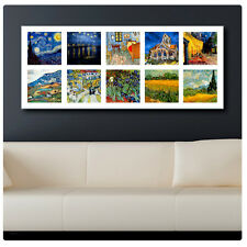 Stampa su tela ENORME Van Gogh Collage 10 Pic Starry Night riproduzione stampe