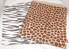 50 8x11 Zebra, Leopard, Damask Animal Paper Party Bags, Gift Bags, Favor Bags