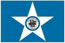 HOUSTON TEXAS Vinyl City Flag DECAL Sticker MADE IN THE USA F215