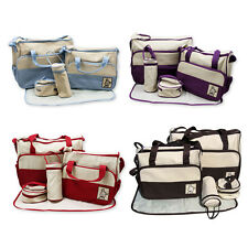 5pcs Multi-Function Baby Diaper Nappy Bag/ Mummy Changing Set+ Free Blanket.