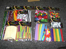 kids childrens art and craft resources pom poms pipe cleaners lolly sticks eyes