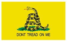 Gadsden Dont Tread On Me Vinyl Historic US Flag DECAL Sticker MADE IN USA F574