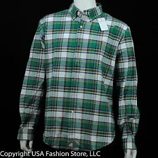 Ralph Lauren Men's Shirts Custom Fit Plaid&Checks Green-Red NWT