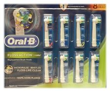 Oral-B 2 Yr Supply Of 8 Replacement Floss Action Brush Heads Fits Multiple Heads