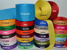 "Solid Grosgrain Ribbon 5 Yards Of One Color 7/8"" in. Hairbows (USE ADD TO CART)"