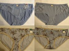 AMBRIELLE Size 5 6 or 8 English Blue Floral Lace Choice Bikini Hipster Panty NEW