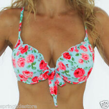 ♥ New Blue Floral Zara Bikini Separates ♥ Sexy Push Up Padded Bra  8 10 12 14 16