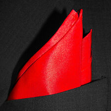 "Classic Red Silk Pocket Square - Full Sized 16""x16"" - 30 Colors - Royal Silk®"