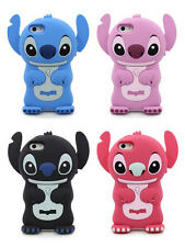 CUTE 3D STITCH RUBBER SILICONE ONE PIECE CASE COVER FOR APPLE IPHONE 4 4S
