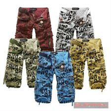 NEW MENS SIZE 30,32,34,36 LONG ARMY MILITARY CARGO SHORTS 100% COTTON PANTS