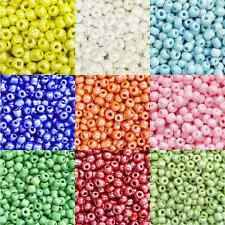 100g Opaque Luster Seed Beads - 10 Colours & 3 Sizes 11, 8 & 6 to choose from