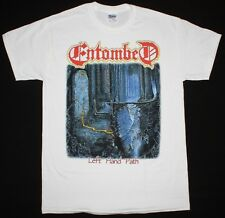 ENTOMBED LEFT HAND PATH'90 DEATH NIHILIST UNLEASHED MORGOTH NEW WHITE T-SHIRT