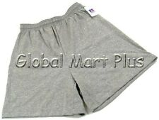 Athletic Shorts Workout Elastic Waist Band Drawstring Mens Oxford Gray Russell