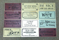 Rustic Decor Wood Wall Hanging Sign Quotes Sayings New 5 1/2 x 11 3/8 inch USA