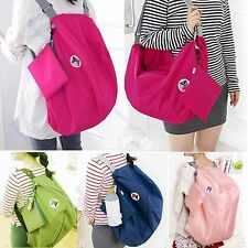 Folding Reusable Eco Shopping Travel Shoulder Bag Tote Handbag Schoolbag Colors