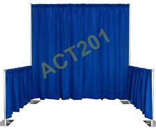 PIPE AND DRAPE TRADE SHOW BOOTH KIT (WITH PREMIUM DRAPES) - PIPE & DRAPE