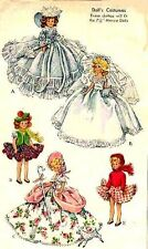 "McCall's 1653 Vintage 7½"" Marcie Doll Clothes Pattern-Nearly Uncut &/or Complete"