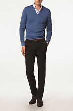 NWT POLO MENS Solid Casual Fit V-Neck Sweater Cashmere Cotton Jumpers M,L,XL