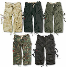 SURPLUS ENGINEER VINTAGE 3/4 LENGTH COMBAT CARGO SHORTS S - XXL, ARMY MILITARY