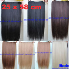Long Straight Five Clip Onepiece Clip in Hair Extensions Synthetic Hair piece