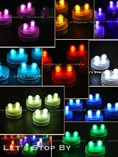 50 SUPER Bright Dual LED Floral Tea Light Submersible Floralyte Party Wedding