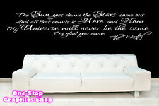 THE WANTED GLAD YOU CAME SONG LYRICS WALL ART STICKER - BEDROOM LOVE DECAL