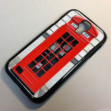 Cover for Samsung Galaxy S4 Red Telephone Cool Box London Quirky Case /6042