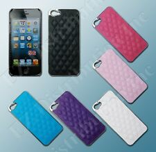 For iPhone 5 5G Fashion Luxury Deluxe Leather Chrome Hard slim case cover + film