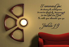 I Command You Vinyl Quote Wall Decal Joshua 1:9 God Scripture Bible Word Verse