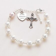 Personalised Rosary Bracelet with Free Engraving! First Holy Communion Gift .