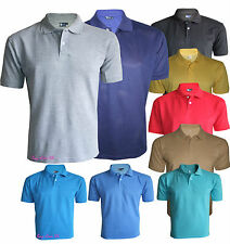 Men's T-Shirts Loose Fit PK Polo Plain Cotton Tops Casual Shirts Size S to 2XL