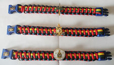 ROYAL MARINES 350TH ANNIVERSARY PARACORD WRISTBAND WITH CHOICE OF 3 BADGES