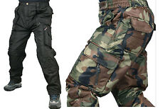 mens shower proof insulated lining winter cargo army camo work trousers pants