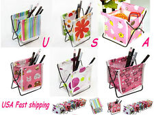 LOTS Folding Fabric Cosmetic Makeup Pen Storage Organizer Holder Box Contain