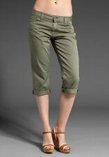 Seven 7 For All Mankind Olive Color Denim Josefina Skinny Boyfriend Jeans 31 New