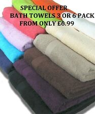 BATH TOWELS  SET/BALE OF 3   !!!!SPECIAL OFFER!!!!  ONLY FROM £6.99  100% COTTON