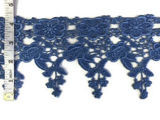 Wide Trim, 4.5 inch Flower and Leaf Venise Lace Trim, 2 Yards