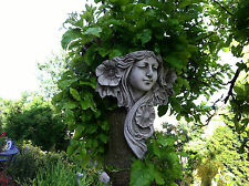 (NEW) Home & Garden Stone Wall Plaques~Lady hanging ornaments~decorative art~nov