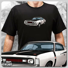 Illustrated Chrysler VALIANT VH CHARGER T-SHIRT - Classic Muscle Car E38 E49 Tee