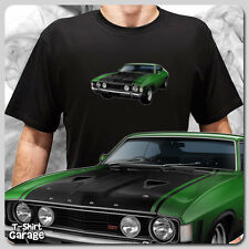 Illustrated Ford Falcon XA GT 351 Coupe T-Shirt, Classic Australian Muscle Car