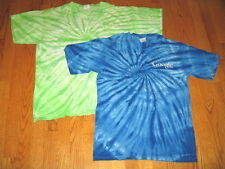 GOOGLE logo TIE DYE T-SHIRT Employee Small or Large Blue Green GOOOGLE NEW NWOT