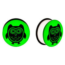 Flared Owl Glow in the dark Ear Plugs