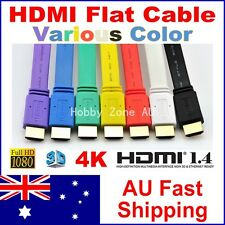 HDMI Male Flat Cable V1.4 3D Full HD 1080P Gold Plated High Speed with Ethernet
