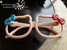 [Top Fashion Rose] Hello Kitty Shape Colorful Cat  Double Bow Cute Nerd Glasses