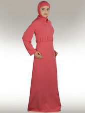 Varisha Pink Abaya AY228 Jilbab/Hijab/Islamic Women Clothing, Muslim Wear Dress