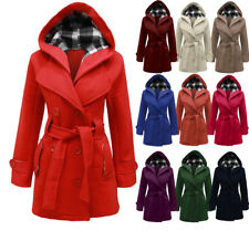 NEW LADIES HOODED BELTED FLEECE JACKET WOMENS COAT TOP SIZES 8-20