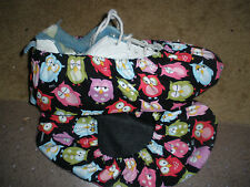 BOWLING SHOE COVERS-OWLS CUTE BRIGHT FABRIC -MED, LG OR XL