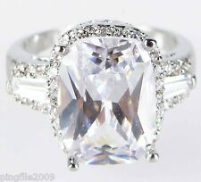Size 6,7,8,9,10Jewelry Woman's White Sapphire White Topaz 10KT Gold Filled Ring